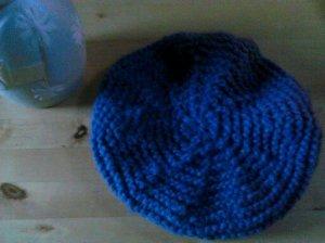 bonnet bleu-gris