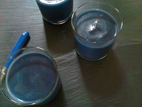 soupe bleue chou rouge