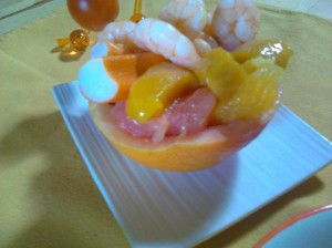 salade crevettes agrumes