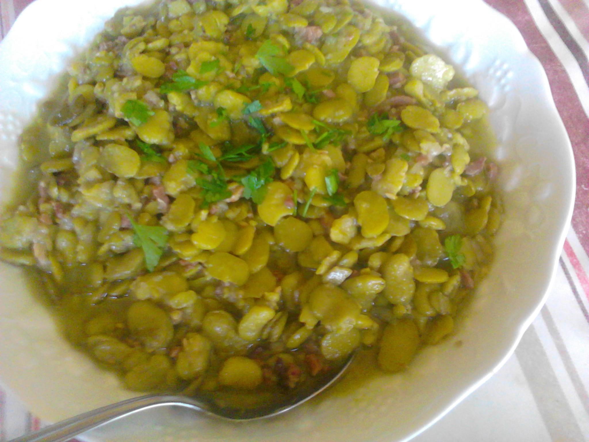 ragoût de fèves au jambon de bayonne | la cuisine de bulle