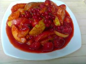 tajine aux fruits sauce fraises