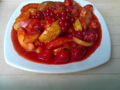 tajine fruits sauce aux fraises