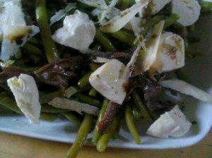 salade haricots mozza anchois