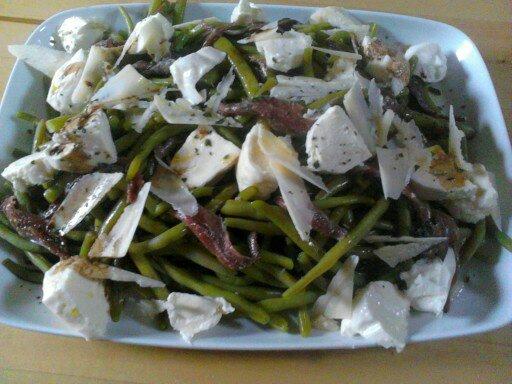 salade haricots verts mozza