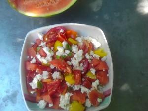 salade tomates pasteque