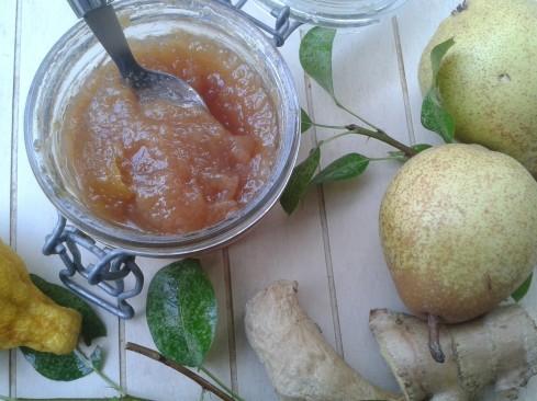 confiture poires gingembre 2