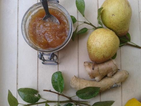 confiture poires gingembre