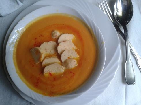 creme carotte citrouille quenelle