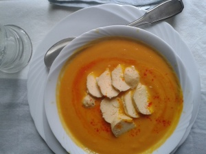 creme carottes citrouille  quenelles