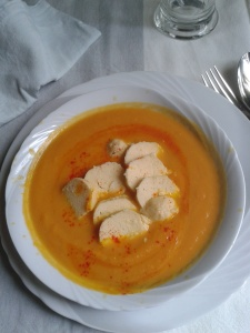 creme carottes quenelles