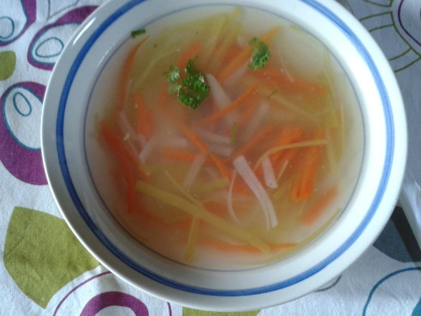 bouillon vermicelles de legumes