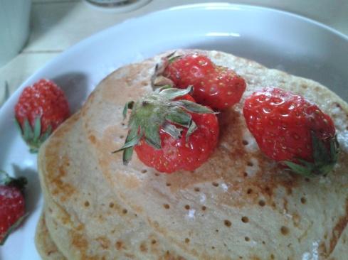 pancake fraises