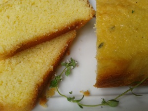 cake au citron et au thym