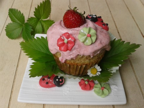 cupcake matcha fraise   (2)