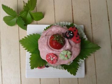 cupcake matcha-fraises