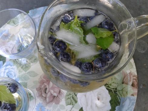 punch fruité aux myrtilles