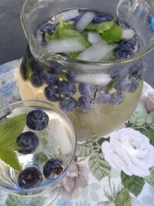 punch fruité vin blanc myrtilles