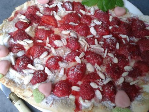 pizza aux fraises