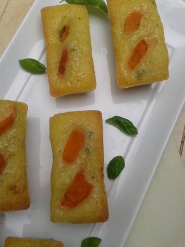 financiers huile olive abricots