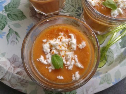 gaspacho melon tomates