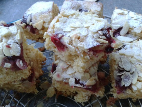 blondies framboises amandes