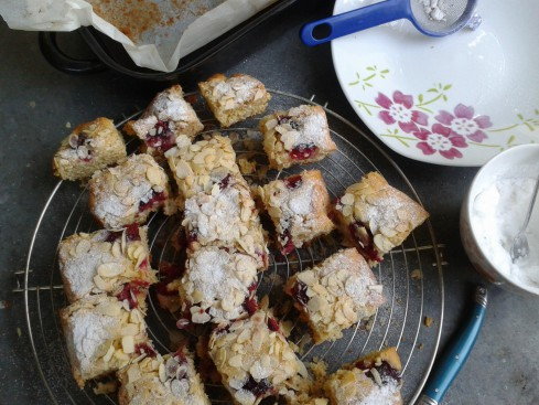 blondies framboises