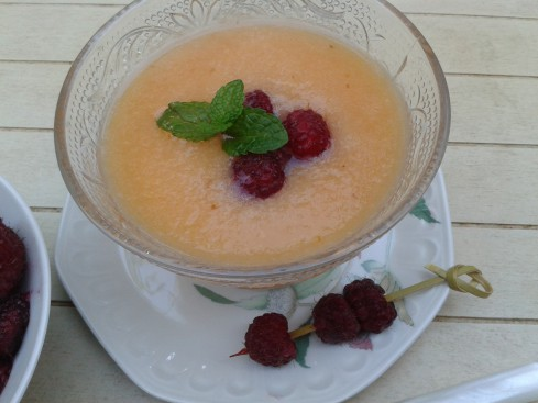 smoothie melon et litchis