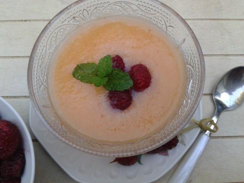 smoothie melon litchi