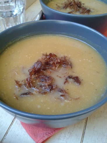 soupe butternut confit canard