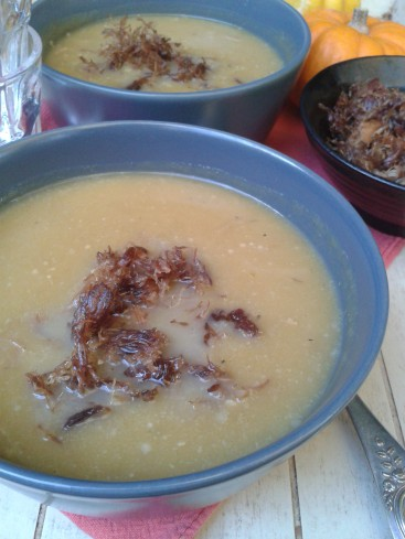 soupe butternut effiloche de confit