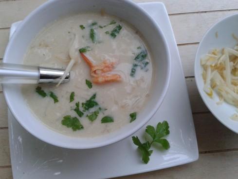 soupe crevettes curry vert