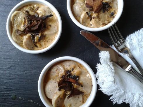 cassolettes de boudins blancs sauce foie gras cepes (2)
