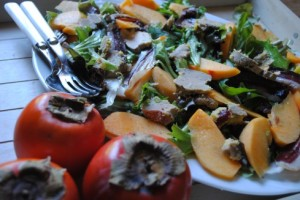 salade gasconne kaki 1
