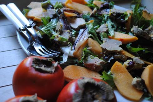 salade gasconne kaki 2