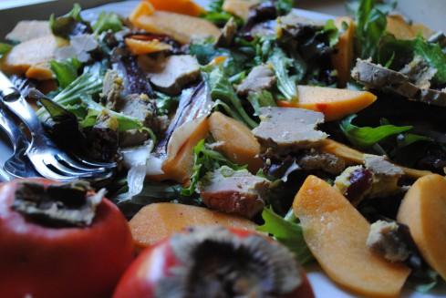 salade gasconne kaki