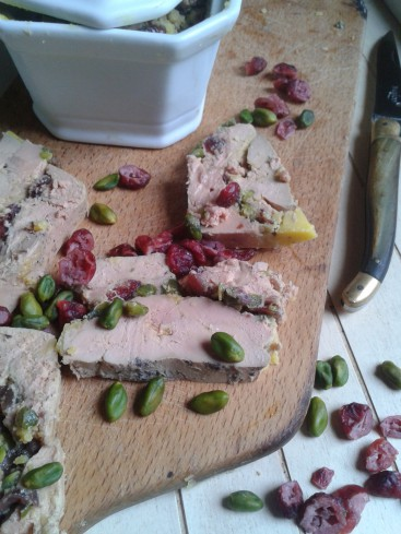 terrine foie gras cranberries pistaches