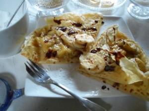 crêpes fourrées mascarpone banane