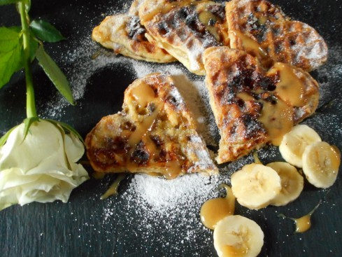 gaufres feuilletées bananes caramel 2