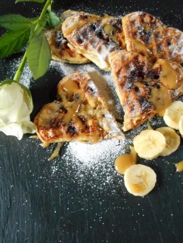 gaufres feuilletées bananes caramel 3