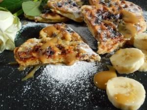gaufres feuilletées bananes caramel 4