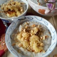 Chè chuối, dessert vietnamien : Bananes au lait de coco et perles de tapioca