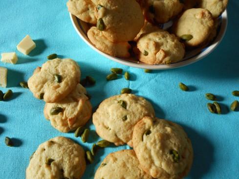 cookies chocolat blanc pistaches