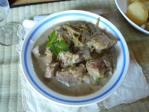 sauté agneau artichauts haricot vert 1