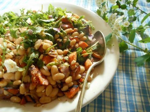 salade haricots blancs patate douce feta 1