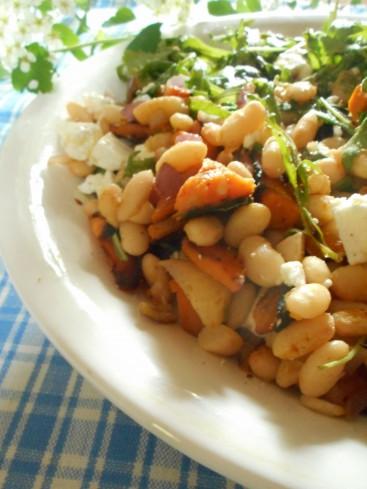 salade haricots blancs patate douce feta 2