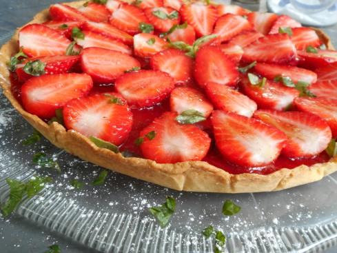 tarte fraises basilic 1