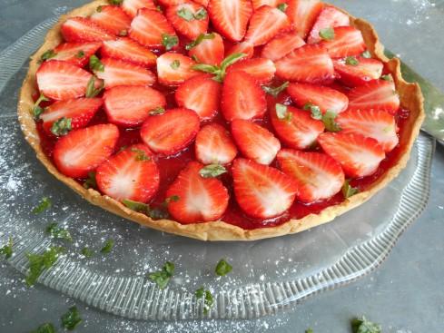 tarte fraises basilic 3